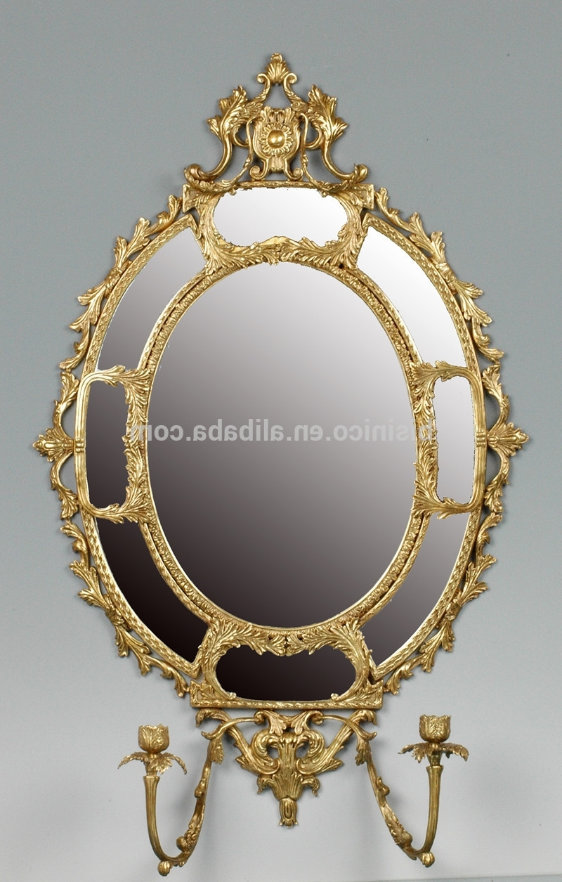 Bronze Wall Art Intended For Recent Unique Design Oval Bronze Wall Mirror,exquisite Solid Brass Art Wall (View 3 of 20)