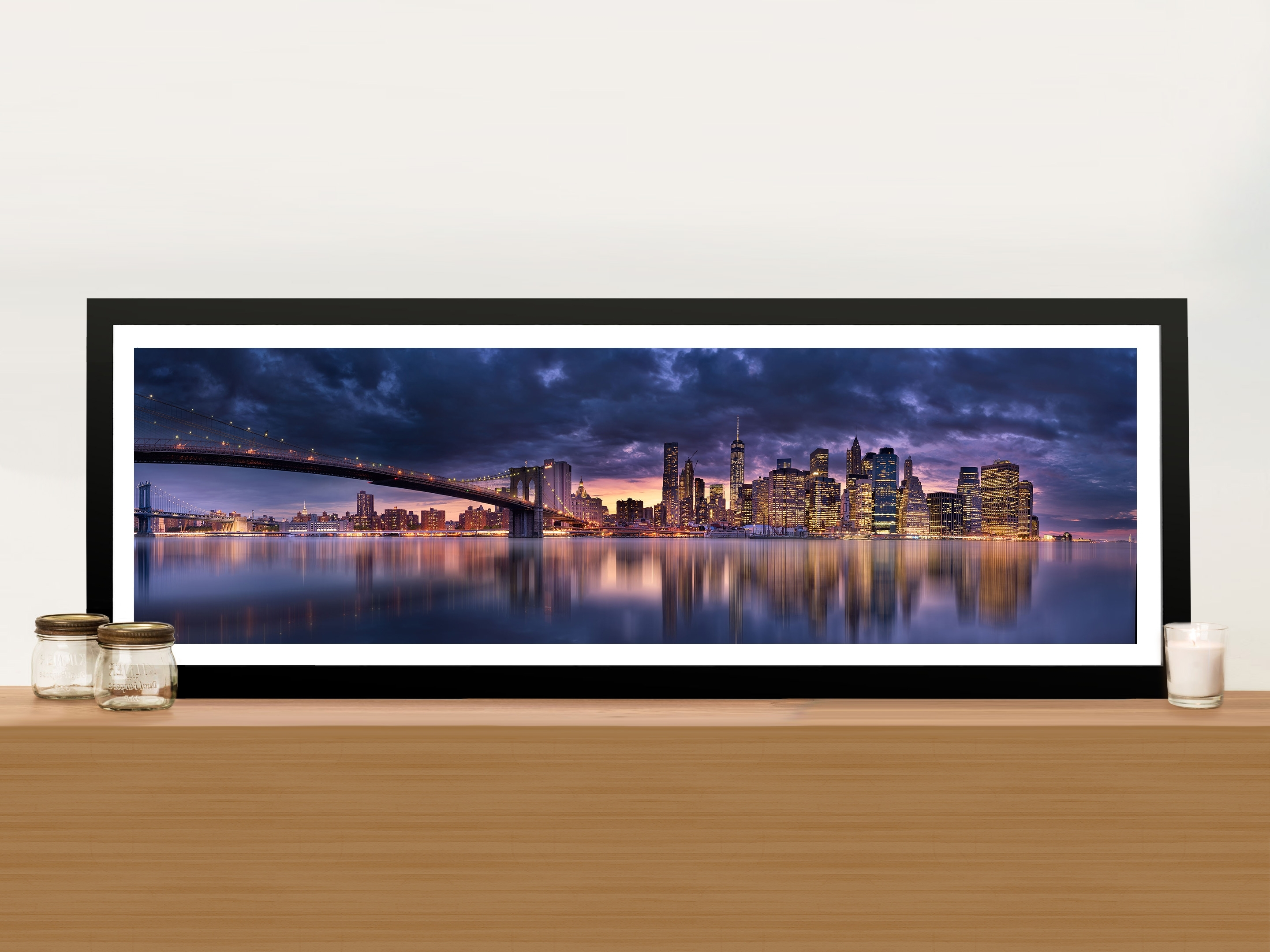 Brooklyn Bridge New York Panoramic Wall Art Print On Canvas Online Art In Most Current Panoramic Wall Art (View 3 of 15)