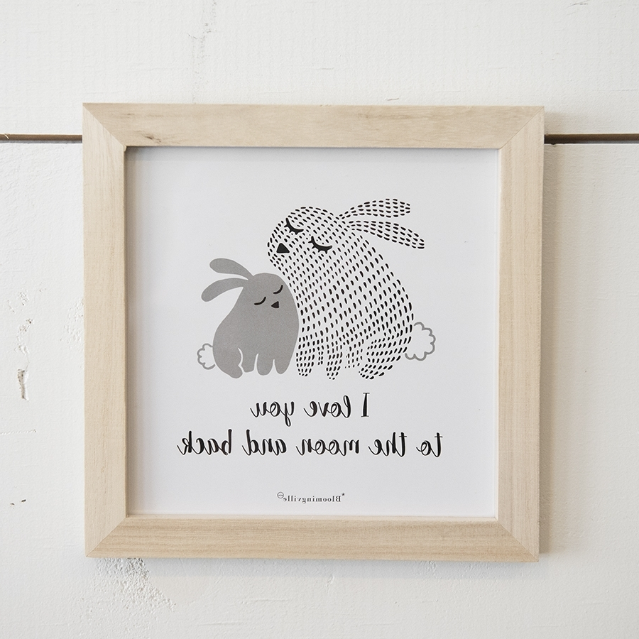 Bunny Wall Art – Yarrow Avenue Collection Inside Most Up To Date Bunny Wall Art (View 16 of 20)