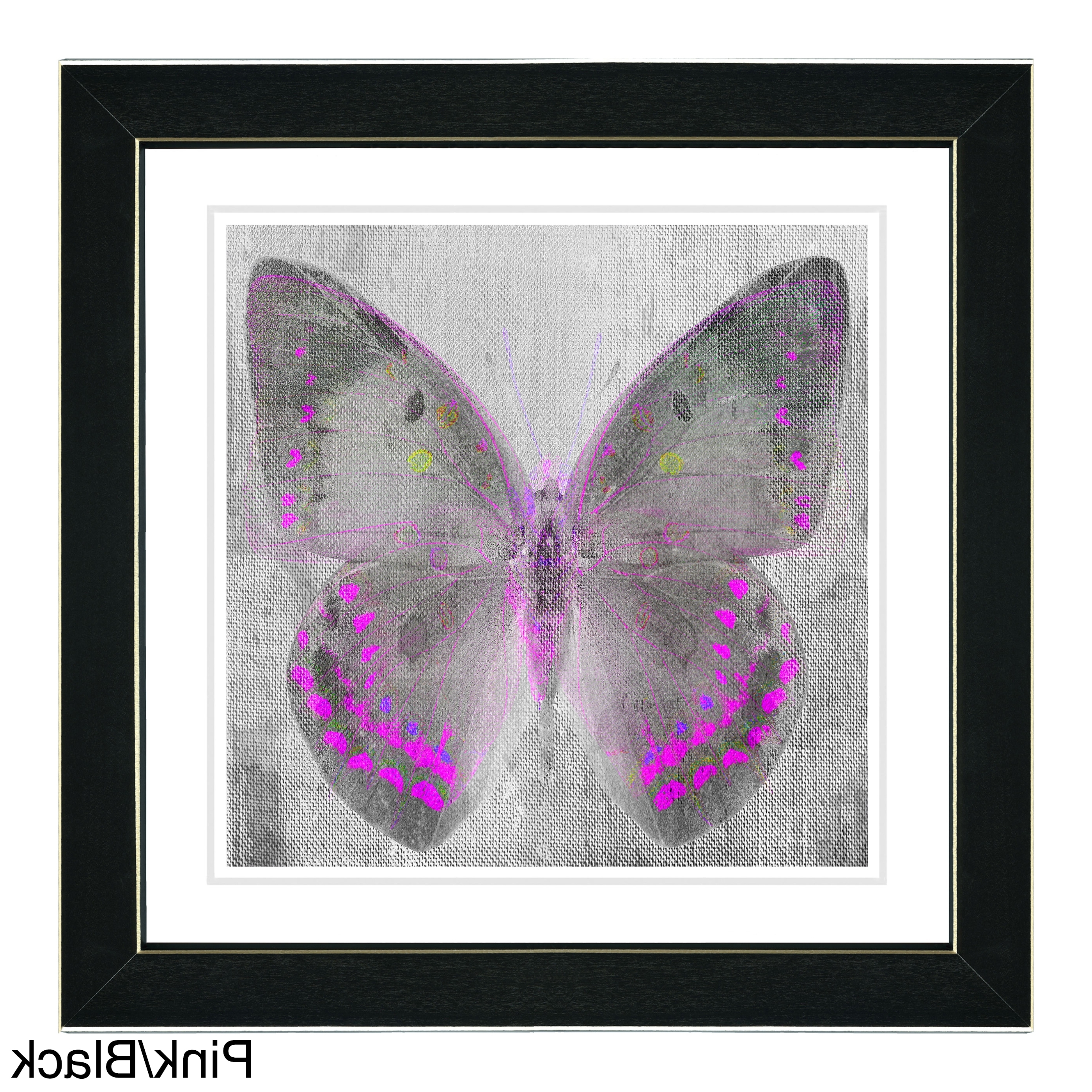 Butterfly Wall Art With Regard To 2018 Studio Works Modern 'dusk Butterfly' Wall Art Framed Fine Art Print (View 4 of 15)
