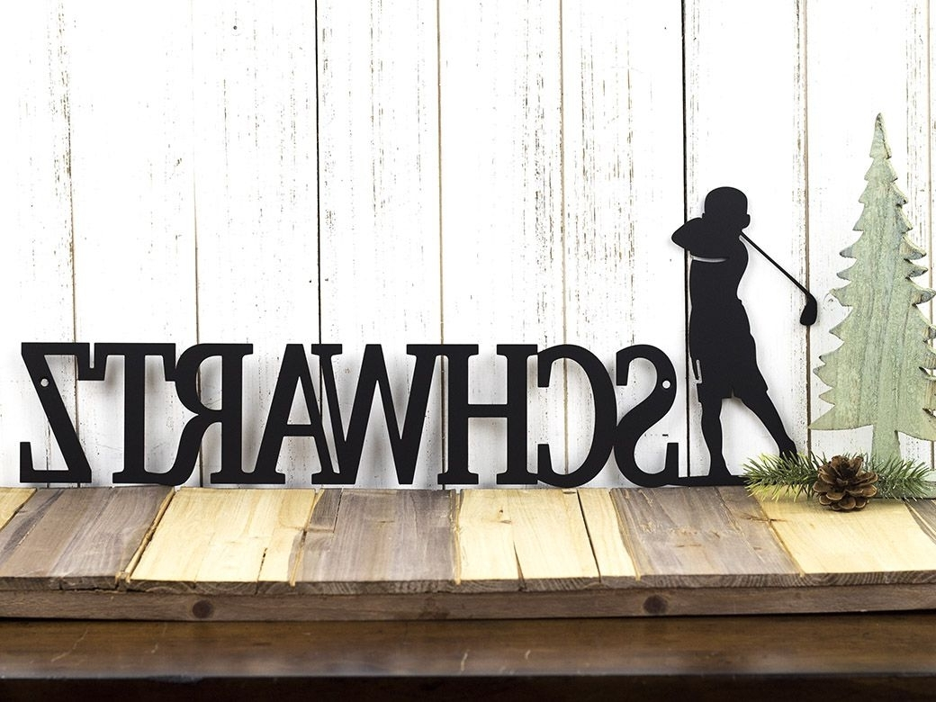 Buy A Custom Made Personalized Golf Name Sign (View 2 of 20)
