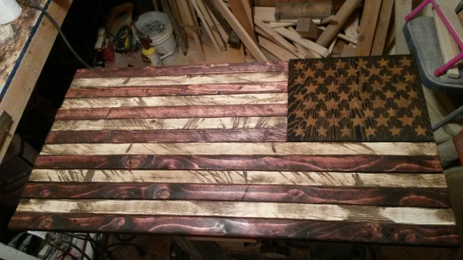 Buy A Handmade Rustic Distressed Wood American Flag, Made To Order With Regard To Widely Used Wooden American Flag Wall Art (Gallery 13 of 20)