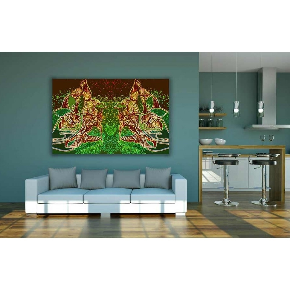 Buy Abstract Indian Style Canvas Wall Decor Pertaining To Well Known Cheap Large Canvas Wall Art (View 4 of 20)