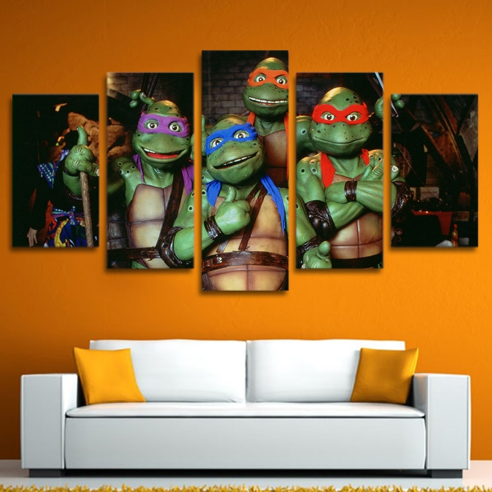 Buy Ninja Turtles Art And Get Free Shipping On Aliexpress In Most Current Ninja Turtle Wall Art (Gallery 2 of 20)