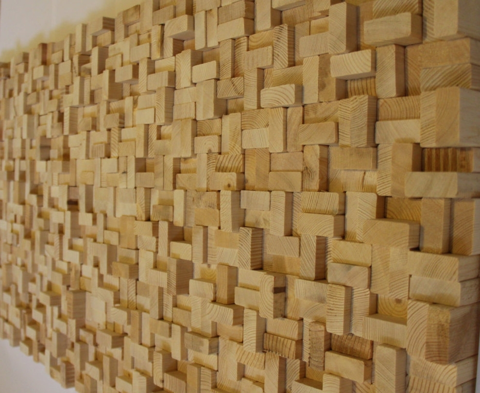 Buy Rustic Reclaimed Wood Wall Art, Wood Wall Sculpture, Abstract Within Well Known Wooden Wall Art (View 1 of 15)