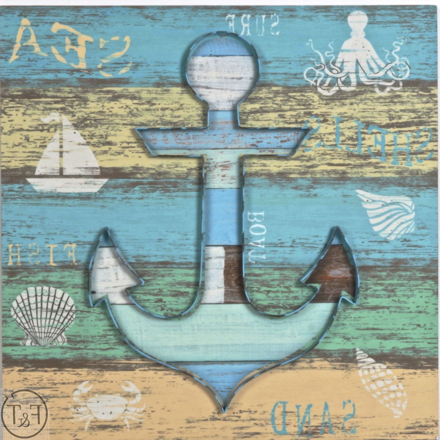 Buy Wood And Metal Anchor Wall Art Wholesale In Canada At Forpost Pertaining To Well Known Anchor Wall Art (View 11 of 20)