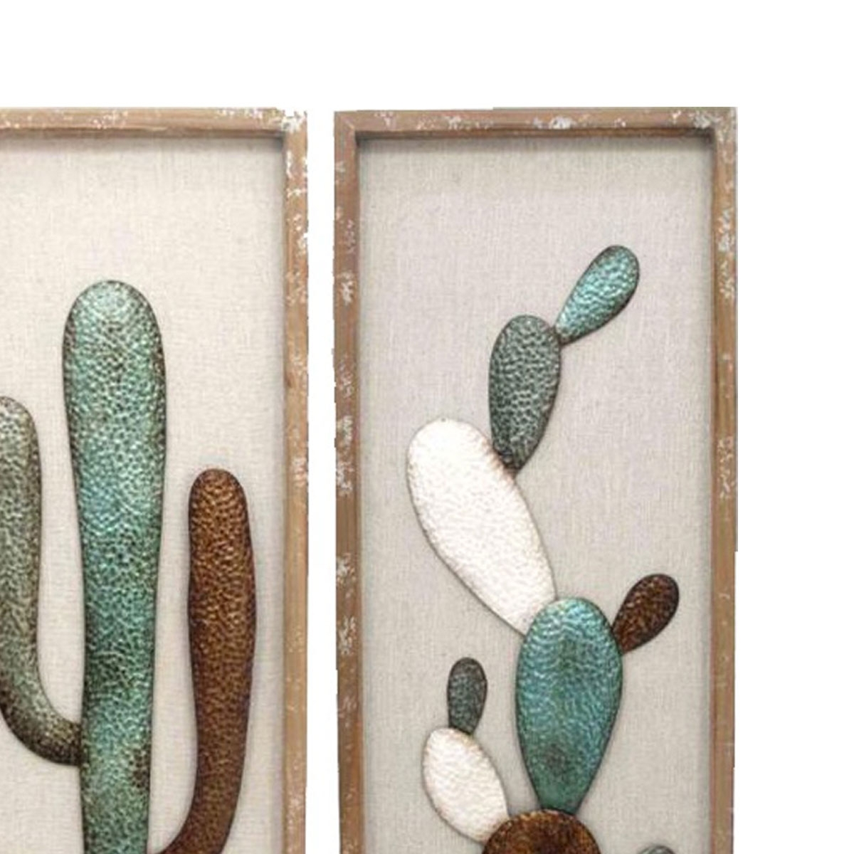 Cactus Wall Art In Well Liked Framed Cactus Wood And Metal Wall Art (View 5 of 20)