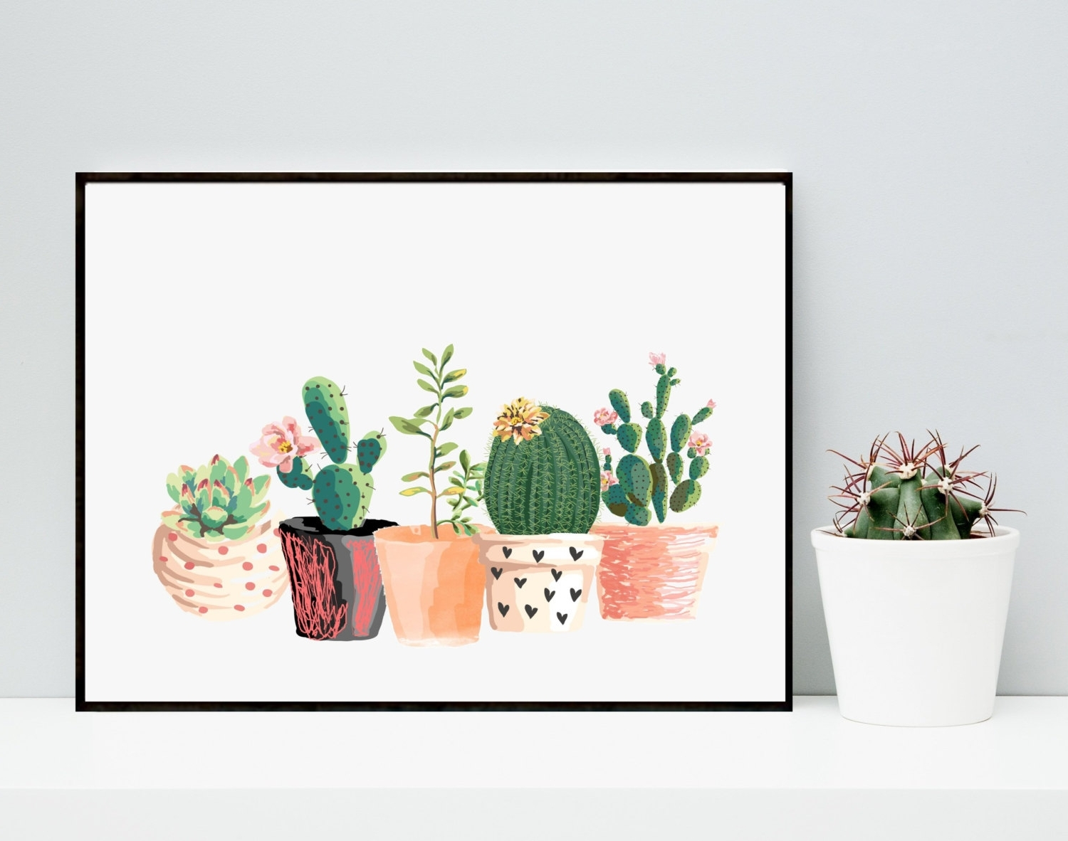 Cactus Wall Art Pertaining To Most Popular 35 Cactus Wall Art, Cactus Wall Art Wood Metal 80Cm – Swinkimorskie (Gallery 11 of 20)