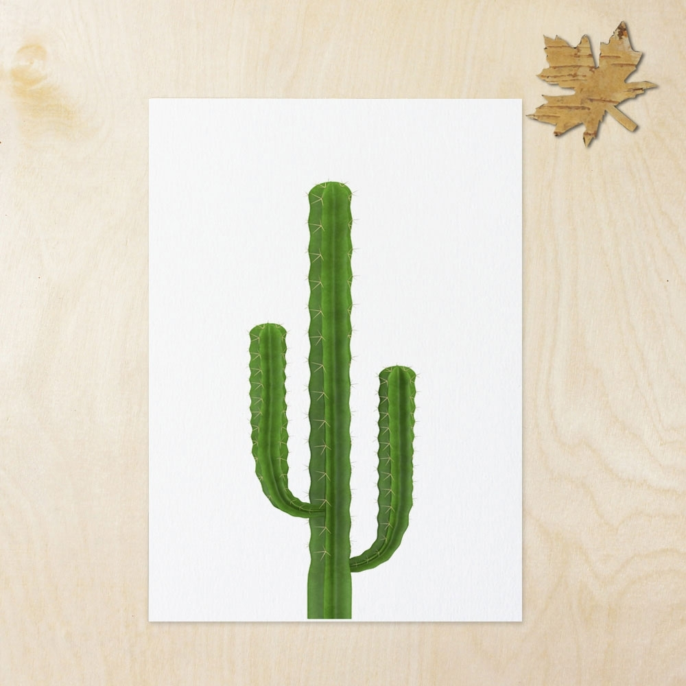Cactus Wall Art With Trendy Cactus Inspiration Art Print Wall Art Flower Home Decor Cactus Art (Gallery 13 of 20)