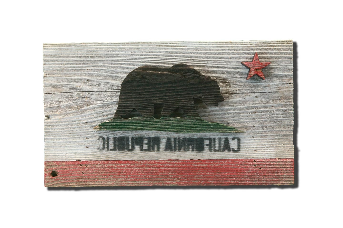 California Wall Art Intended For Widely Used Handmade, Reclaimed Wooden California Flag, Vintage, Art, Distressed (Gallery 17 of 20)