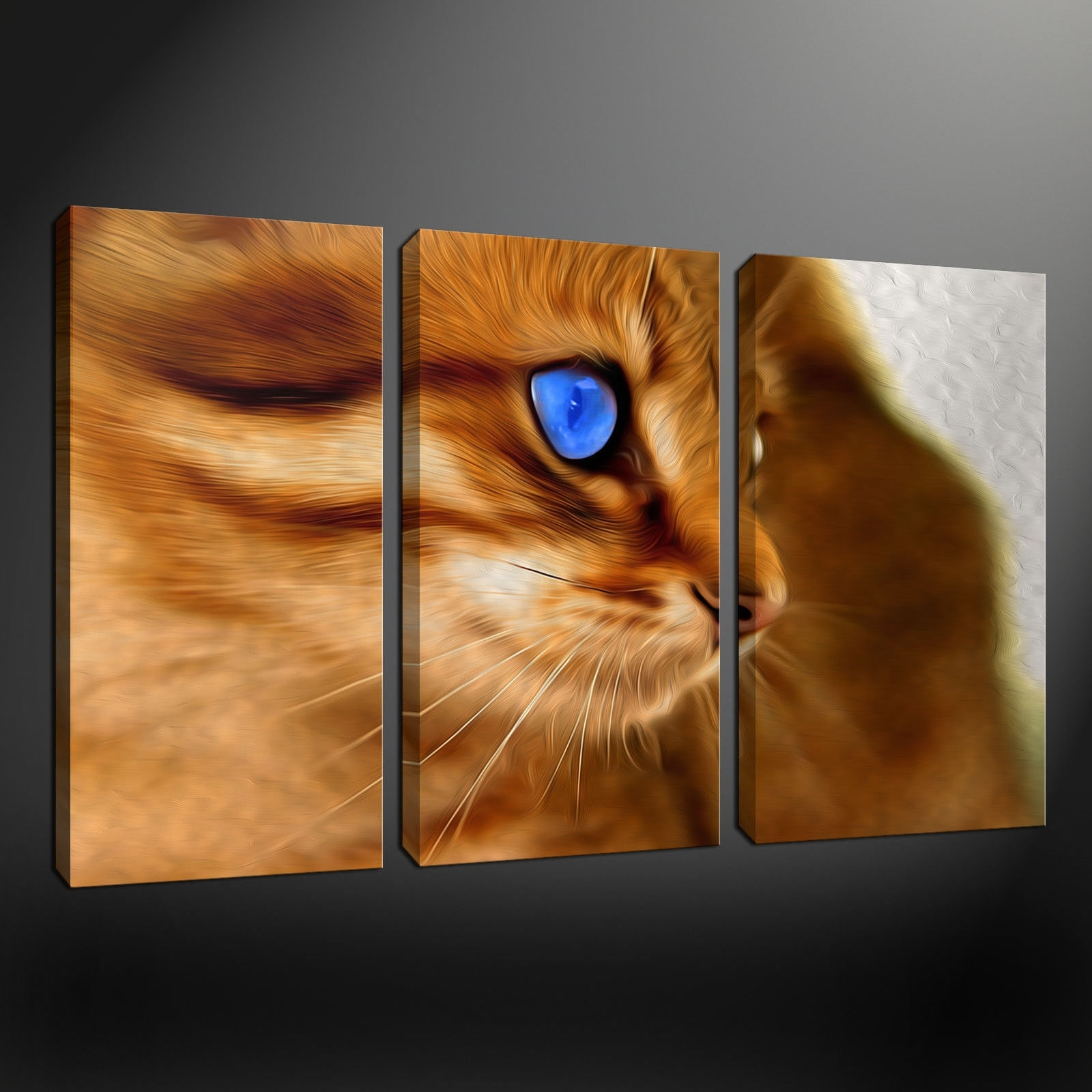 explore photos of cat canvas wall art showing 3 of 20 photos