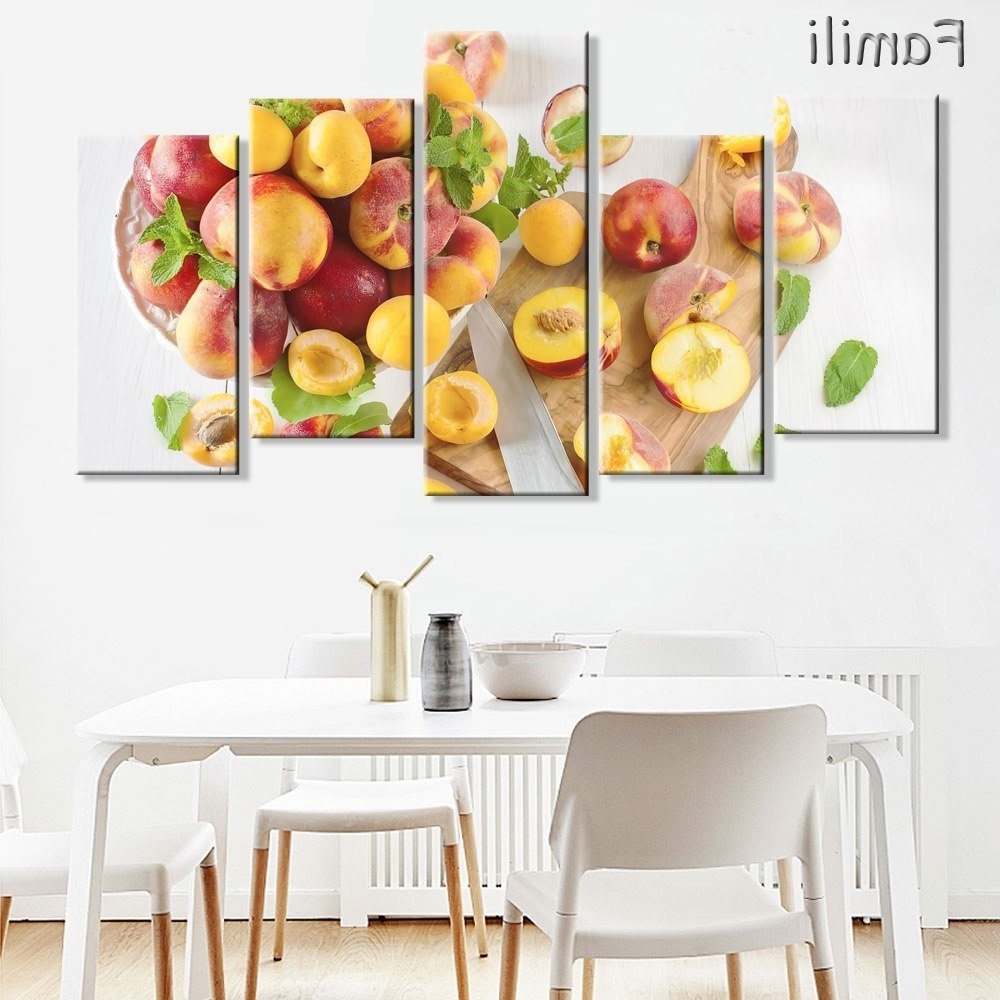 Canvas Prints Pictures Kitchen & Restaurant Wall Art Frameless 5 Throughout Most Recently Released Lemon Wall Art (Gallery 17 of 20)