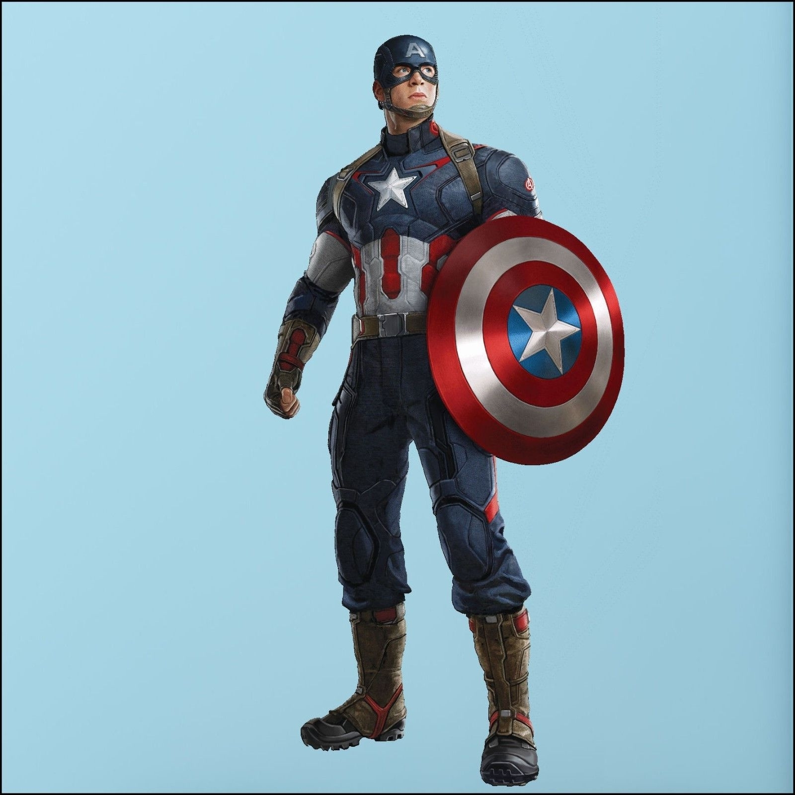 Captain America Avengers Photo Quality 3D Wall Sticker Art Mural In Well Known Captain America Wall Art (View 2 of 15)