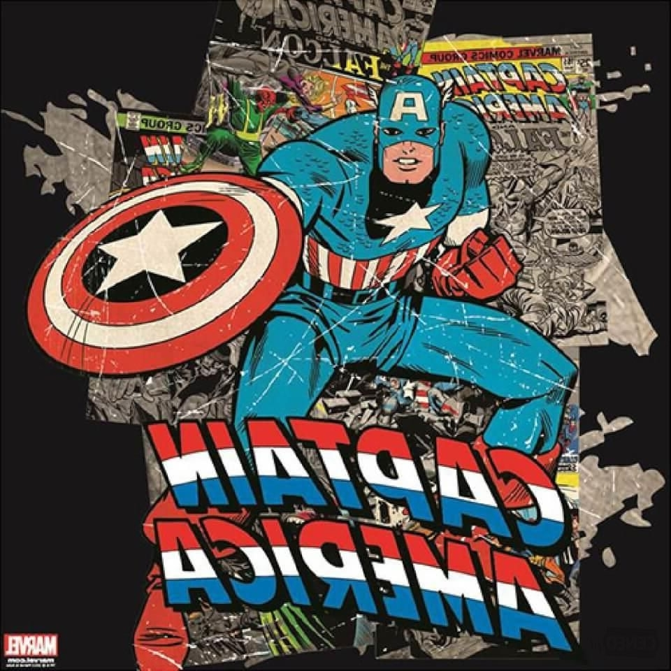Captain America Wall Art Within Newest Marvel Captain America Printed Canvas Wall Art – Ceneo (View 14 of 15)