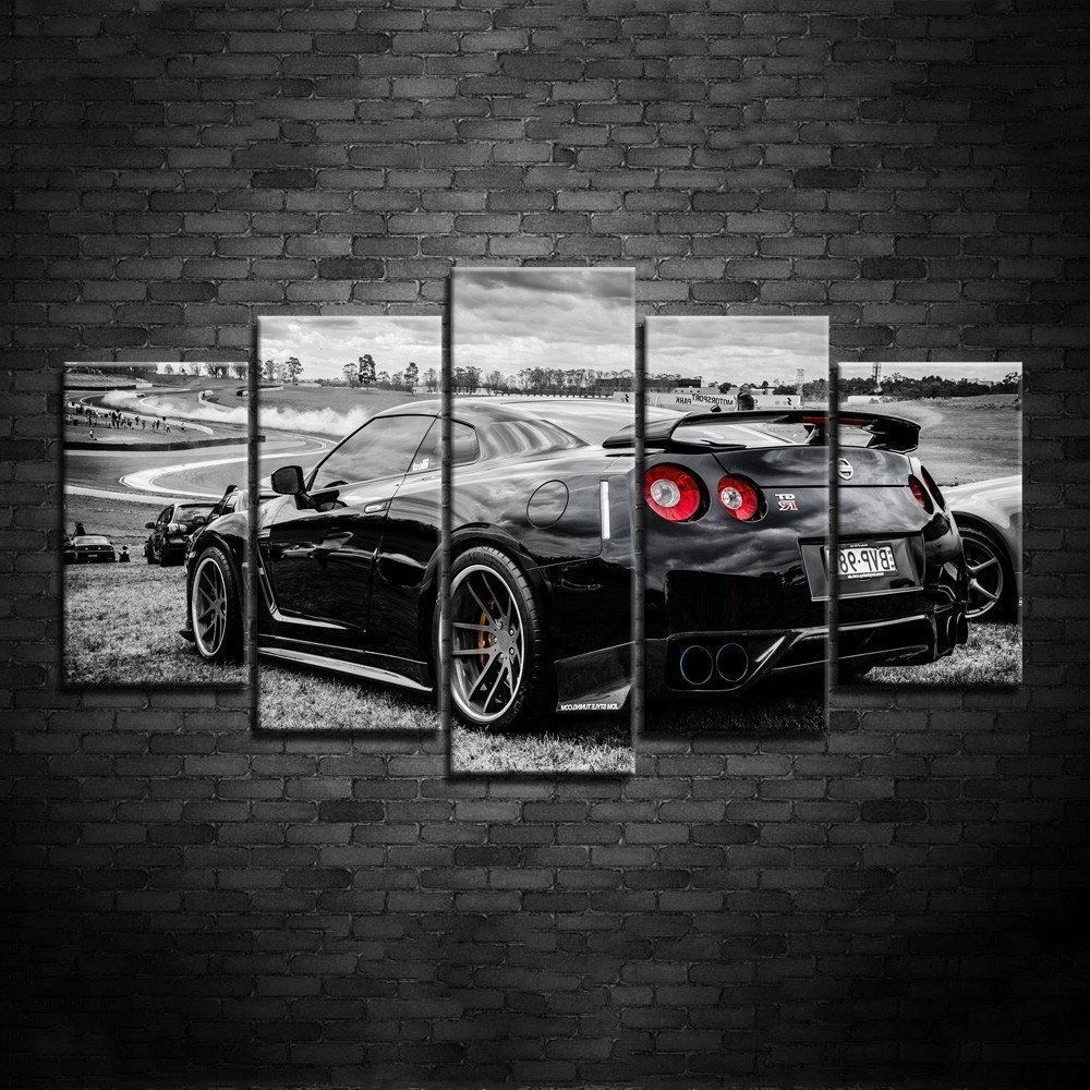 Car Canvas Wall Art Pertaining To Most Up To Date Framed 5 Piece Nissan Gtr Nismo Super Car Hd Poster Canvas Wall Art (View 6 of 20)