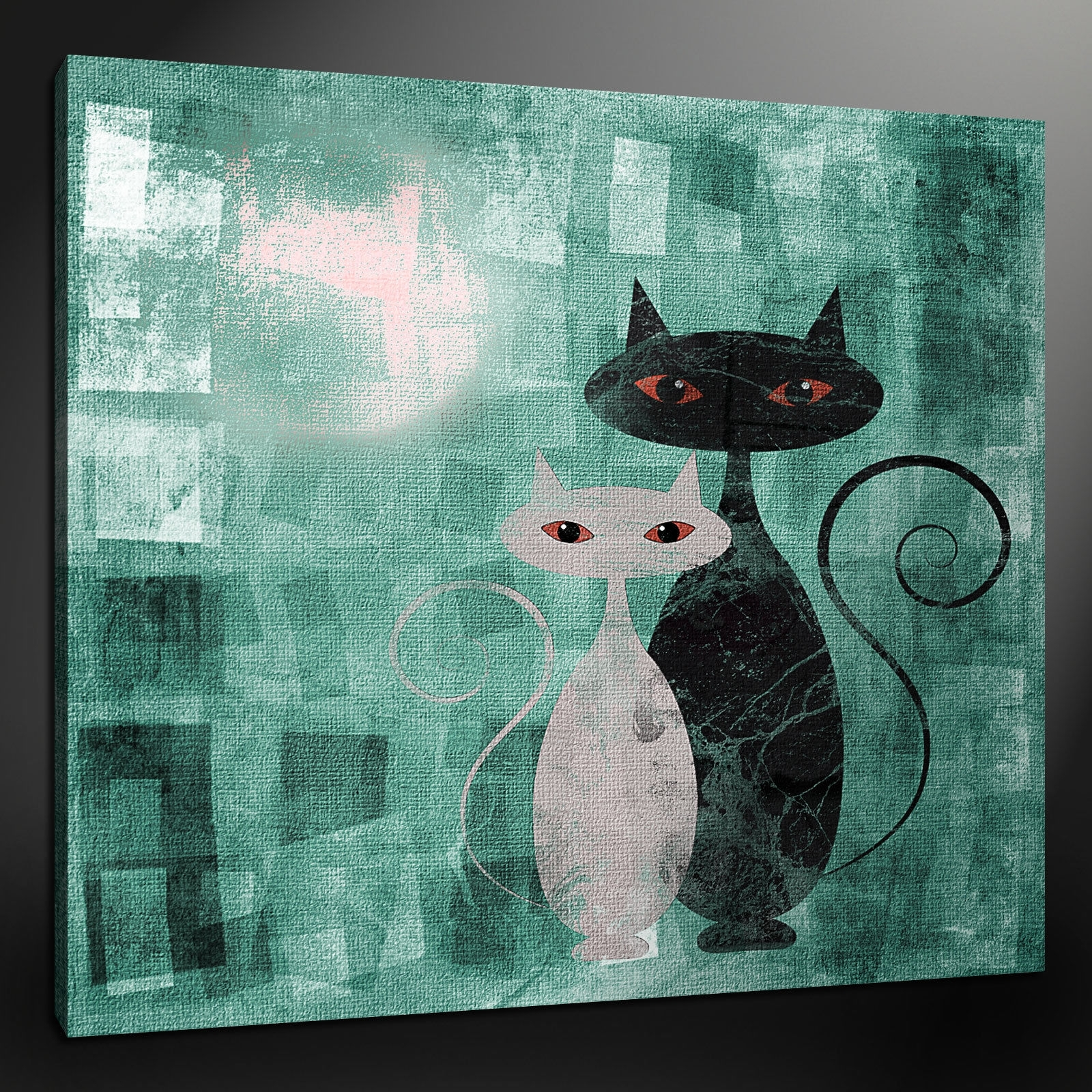 Cat Canvas Wall Art Intended For Newest Canvas Print Pictures. High Quality, Handmade, Free Next Day Delivery. (Gallery 1 of 20)