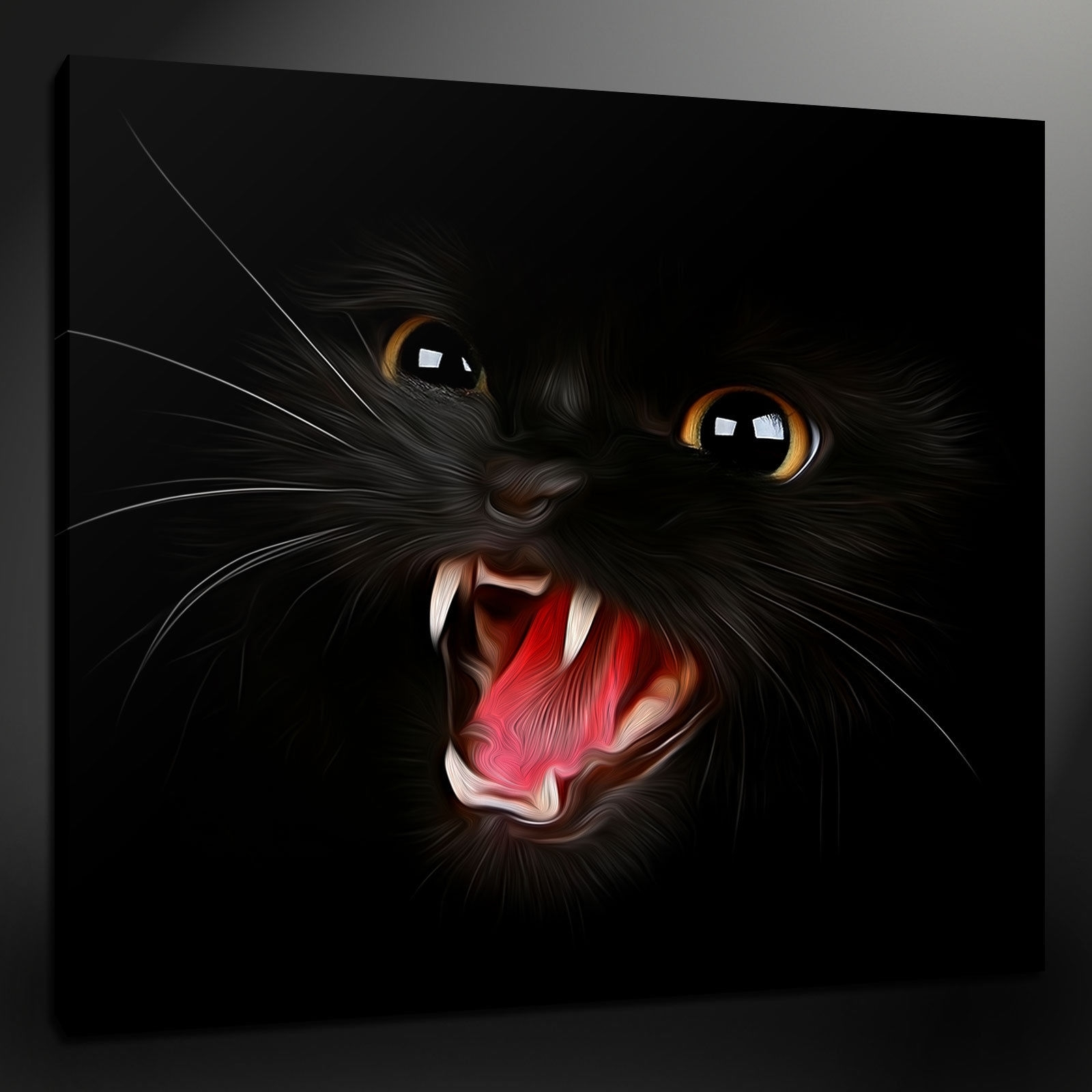 Cat Canvas Wall Art Pertaining To 2018 Canvas Print Pictures. High Quality, Handmade, Free Next Day Delivery. (Gallery 8 of 20)