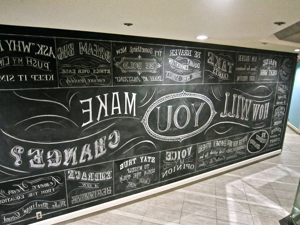 Chalkboard Wall Art – Culturehoop For Popular Chalkboard Wall Art (View 5 of 20)