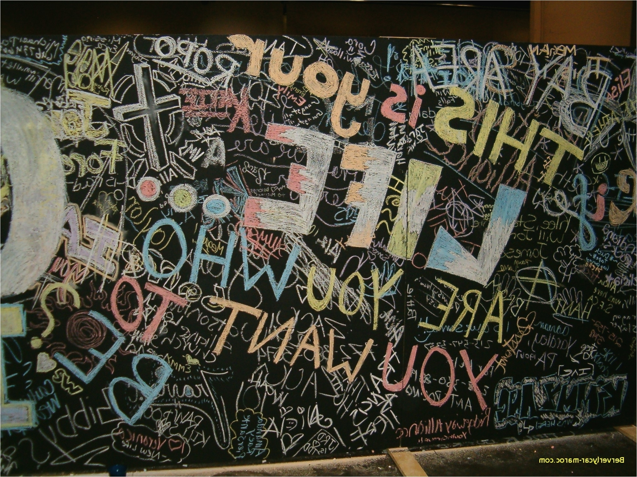 Chalkboard Wall Art Pertaining To Well Known Fresh Chalkboard Wall Drawing Ideas (View 9 of 20)