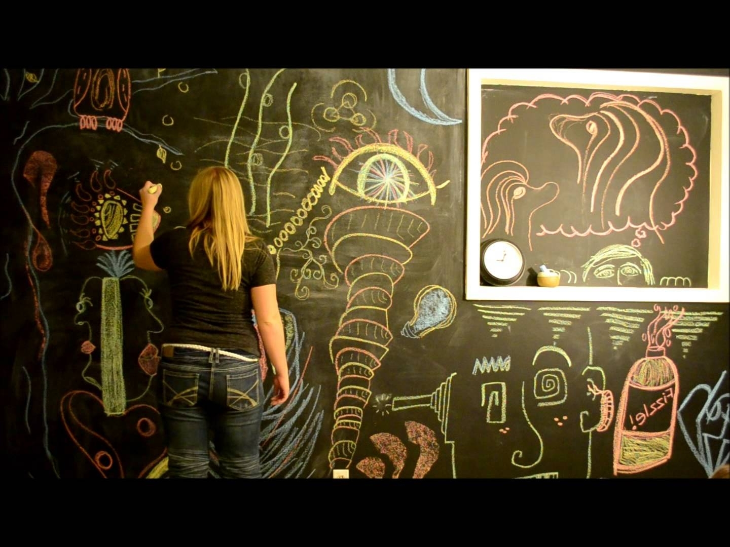 Chalkboard Wall Art – Youtube Throughout Preferred Chalkboard Wall Art (View 7 of 20)