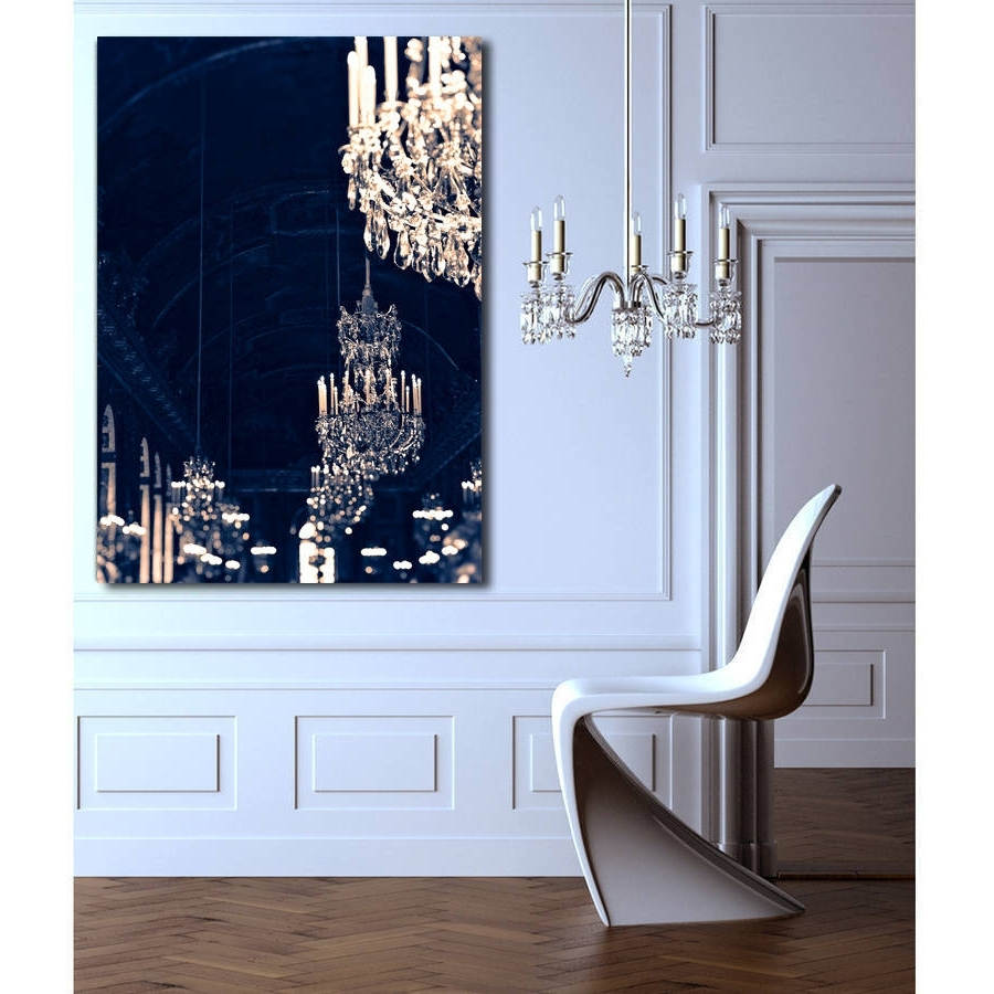 Chandelier Wall Art For Well Liked Chandelier Print Canvas Wall Artruby And B (View 6 of 20)