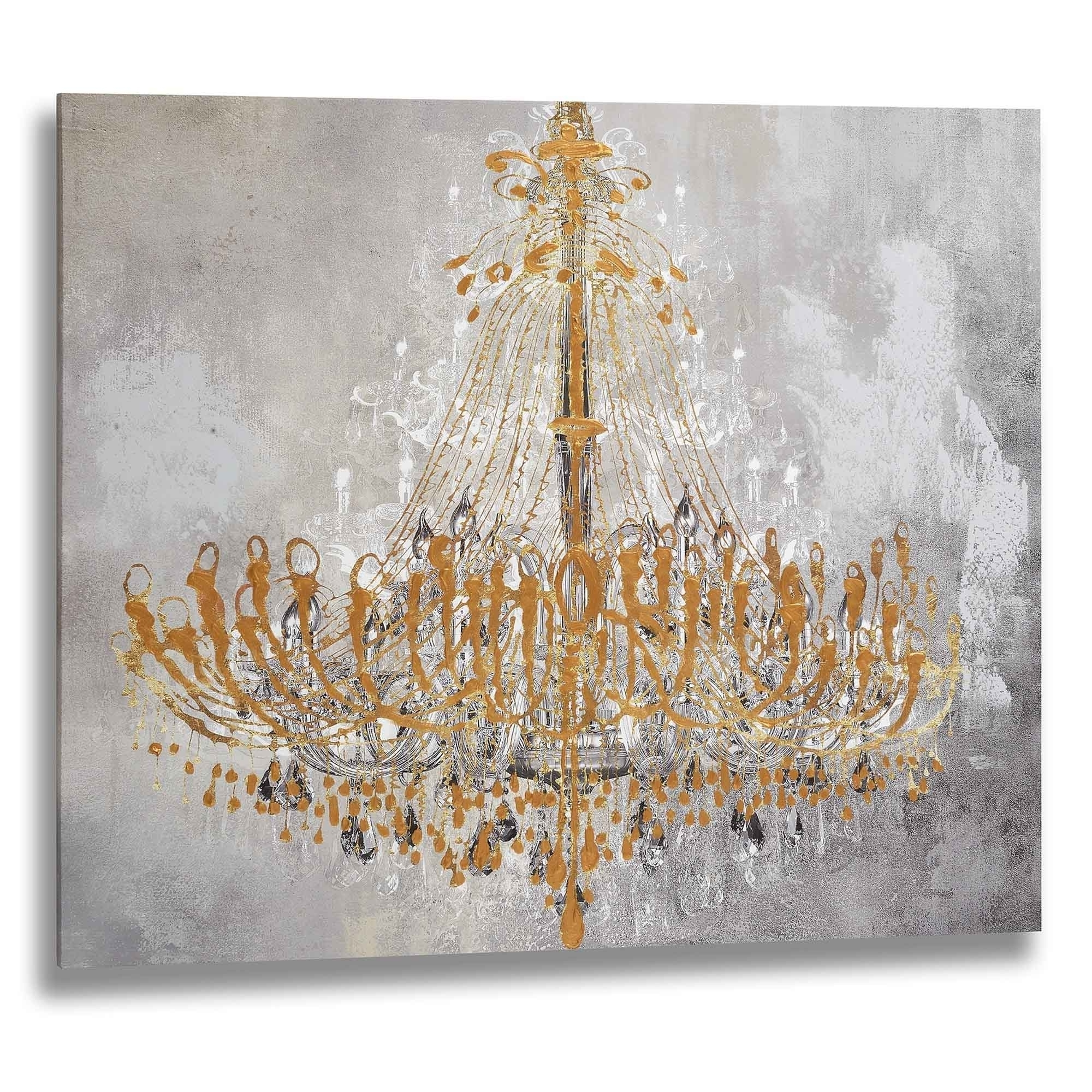 Chandelier Wall Art Pertaining To Trendy Gold Chandelier Wall Art (View 9 of 20)