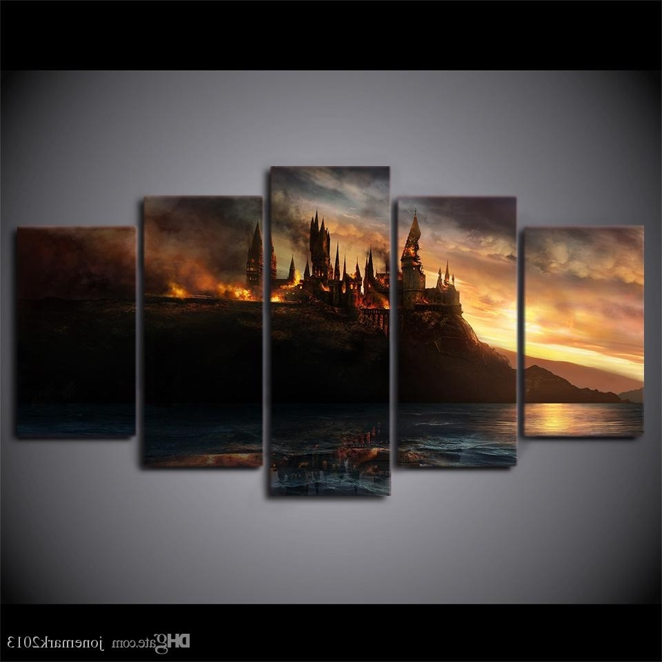 Cheap Canvas Wall Art With Regard To Most Current Online Cheap Canvas Art Harry Potter Castle Printed Wall Art Home (View 5 of 15)