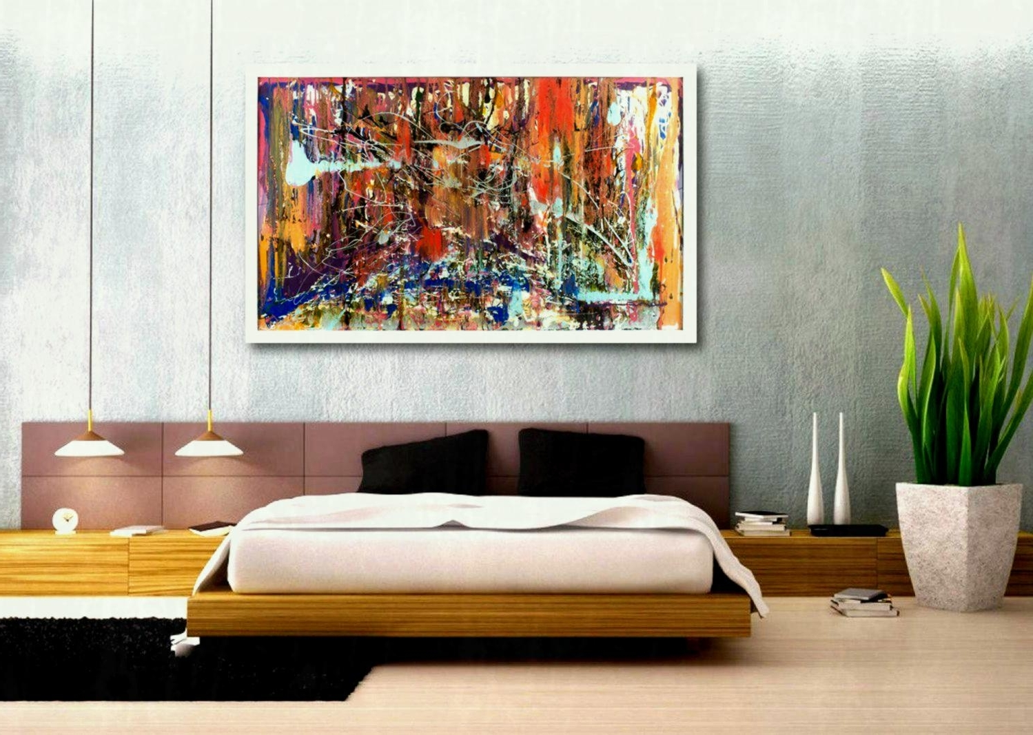 Cheap Large Canvas Wall Art Throughout 2017 Large Canvas Wall Art Calm Soothing Huge Cheap Piece Living Room (View 8 of 20)