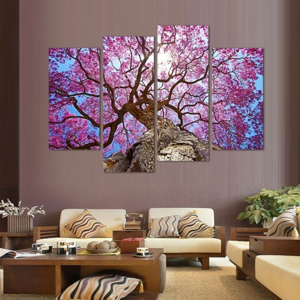 Cherry Blossom Wall Art Inside Most Current Cherry Blossoms Wall Art Oil Painting (View 5 of 20)