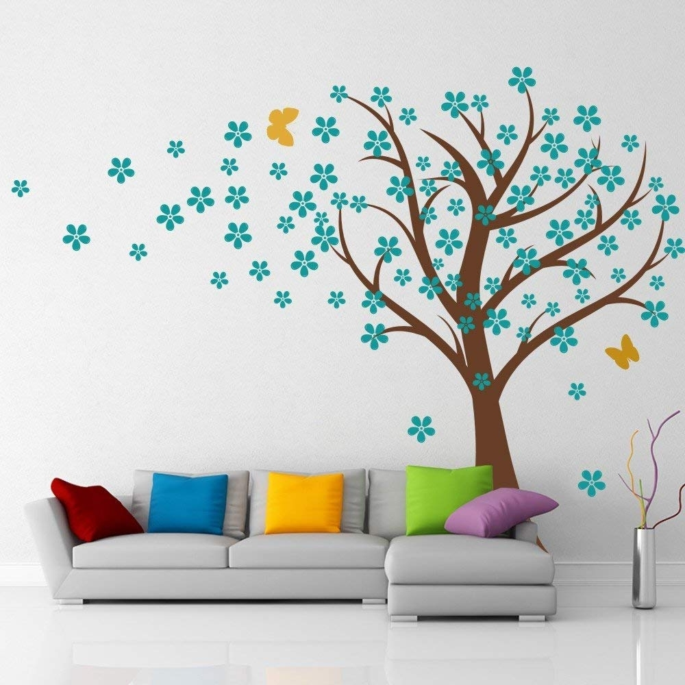 Cherry Blossom Wall Art Intended For Best And Newest Amazon: Cherry Blossom Wall Decals Baby Nursery Tree Decals Kids (View 6 of 20)