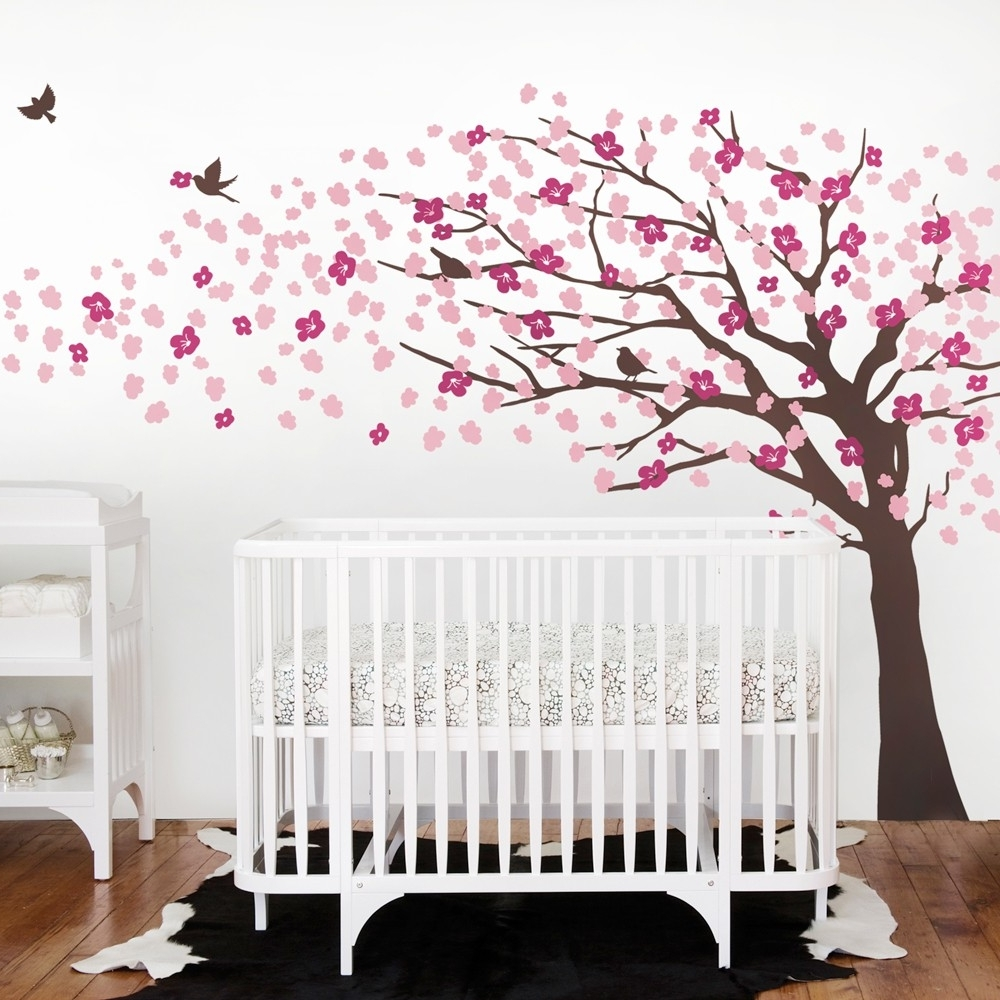 Cherry Blossom Wall Art Within Most Current Baby Room Cherry Blossom Wall Art : Andrews Living Arts – Very (View 8 of 20)