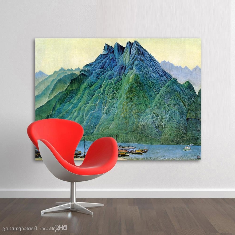 Chinese Wall Art Inside Widely Used 2018 Wall Art Pictures For Living Room Chinese Landscape Painting (View 5 of 20)