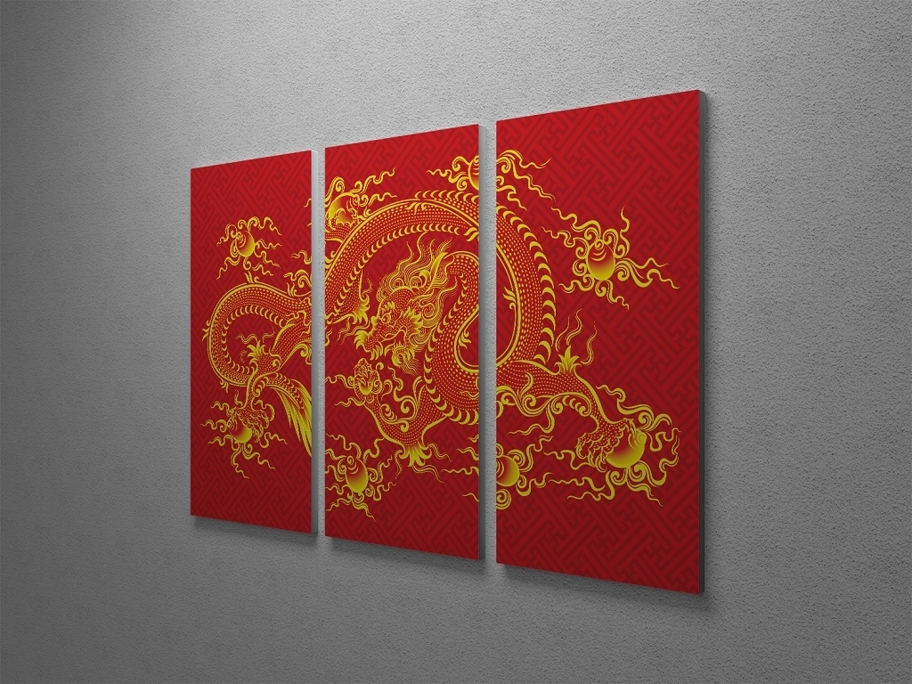Chinese Wall Art Regarding Most Recently Released Chinese Dragon Canvas Wall Art (View 9 of 20)