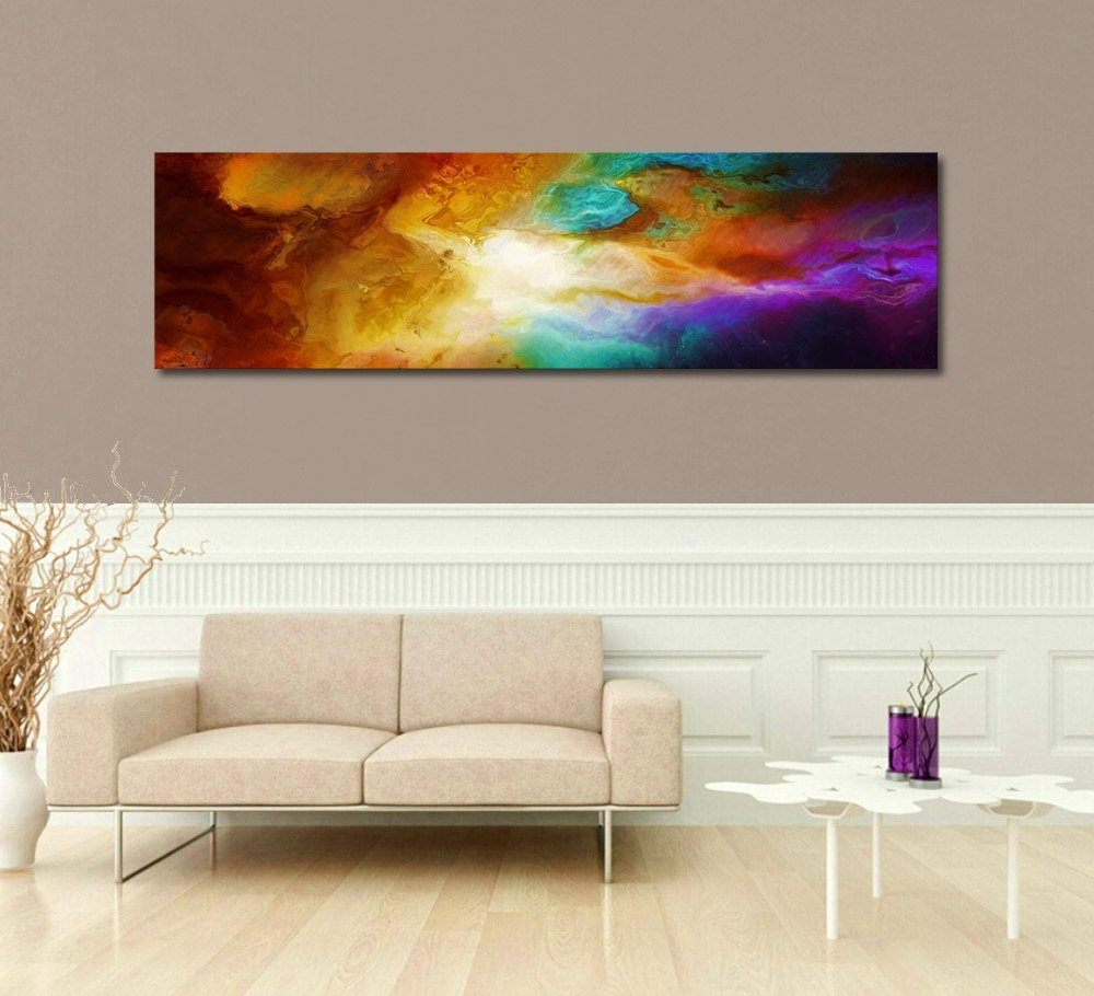 "Contemporary Abstract Art For Sale – ""becoming"" – Pertaining To Trendy Long Canvas Wall Art (View 5 of 20)"
