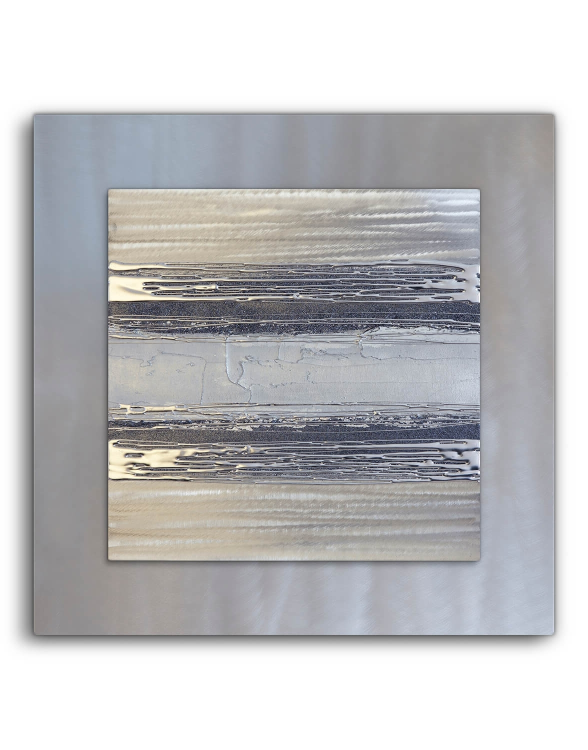 Contemporary Square Silver Grey Ii – Silver Wall Art, Contemporary Regarding Popular Silver Wall Art (View 4 of 20)