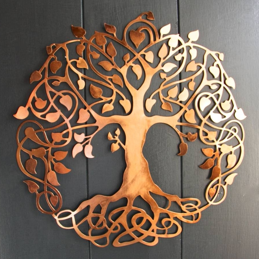 Copper Wall Art With Regard To Most Current Copper Tree Of Life Wall Artlondon Garden Trading (View 4 of 15)