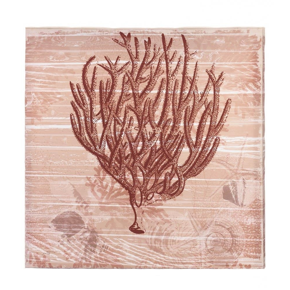 Coral Wall Art Throughout Preferred All Good Decor – Seaside Coral Canvas Wall Art (View 8 of 20)