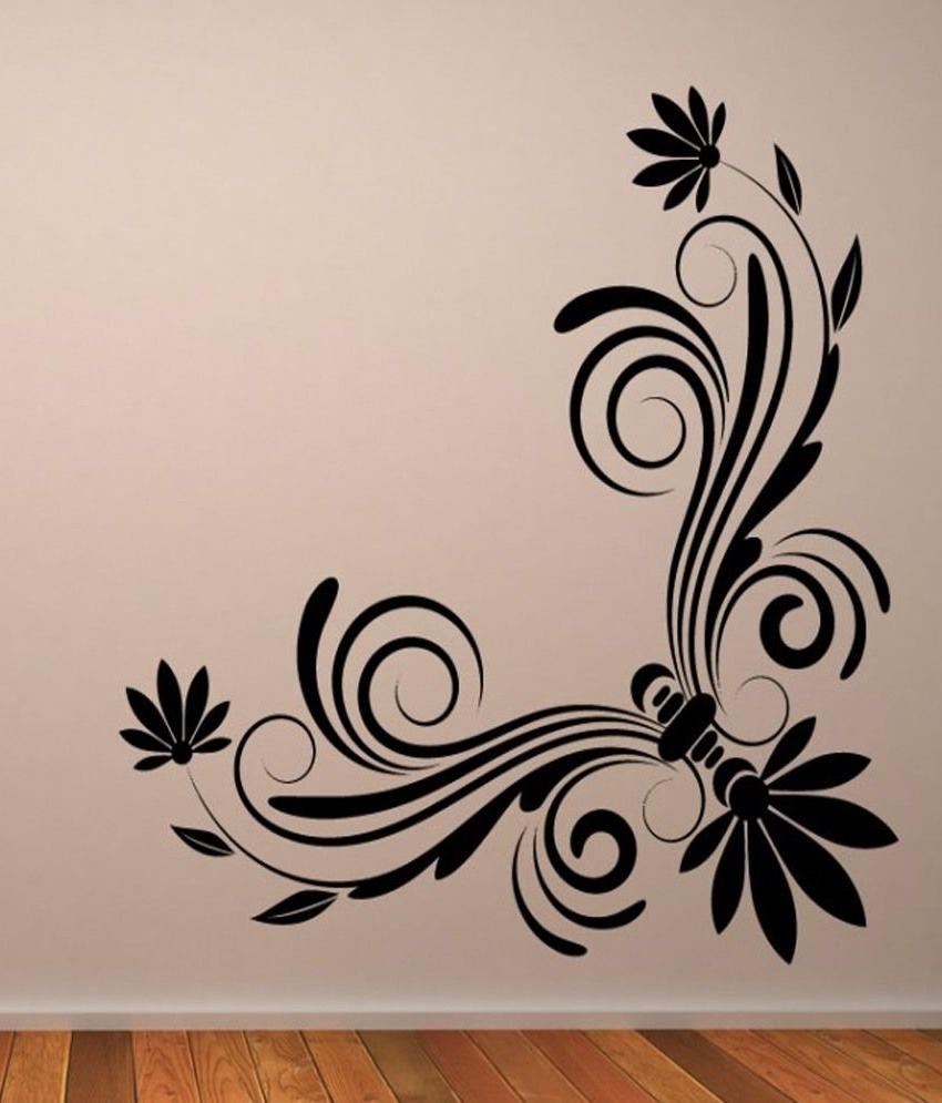 Corner Wall Art For Most Popular Destudio – Floral Corner Wall Art One – Wall Art Stickers And Wall (View 16 of 20)