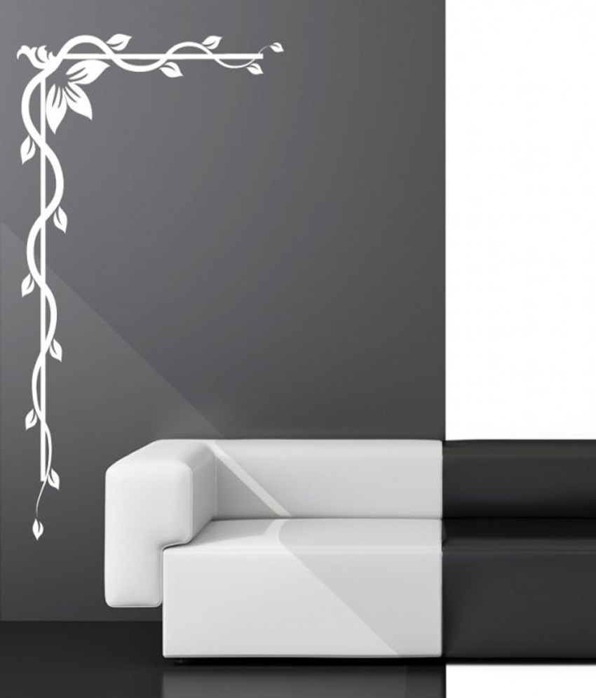 Corner Wall Art Inside Trendy Destudio – Decorative Floral Corner – Wall Art Stickers And Wall (View 4 of 20)