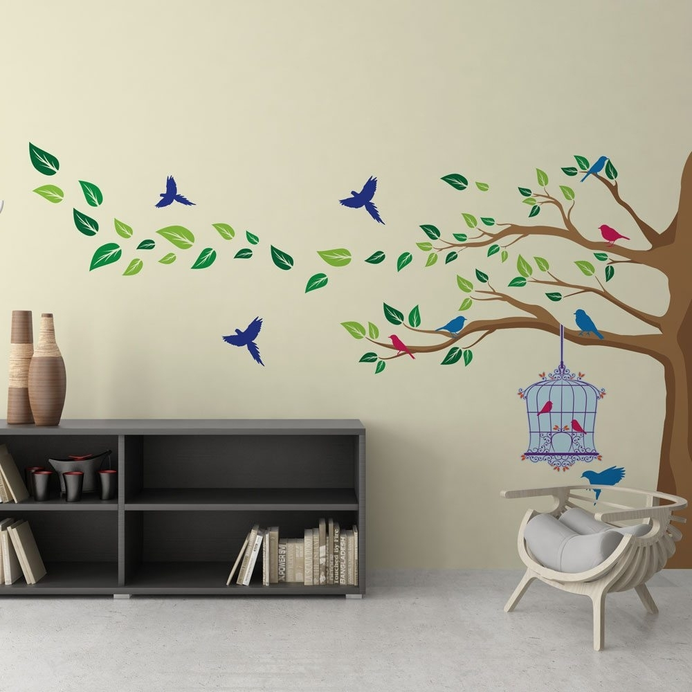 Corner Wall Art Regarding Most Recent Corner Tree Vinyl Wall Art (View 7 of 20)