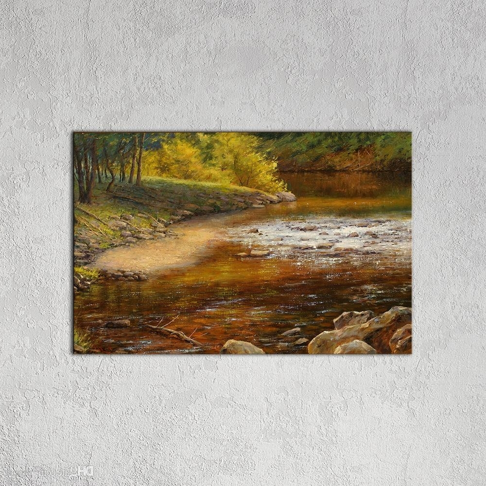 Country Wall Art For Most Up To Date Best Modern Wall Art Picture Country Landscape Canvas Painting (View 5 of 20)