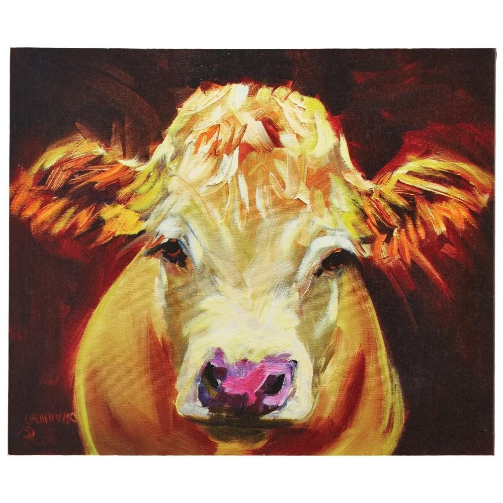Cow Canvas Wall Art Inside Favorite 3R Studios 20.25 In. H X 24 In (View 5 of 20)