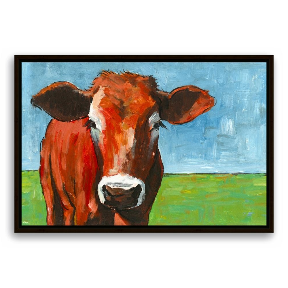 Cow Canvas Wall Art Within Fashionable Designs Direct 20 In. X 30 In (View 9 of 20)
