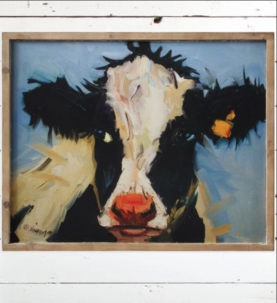 Cow On Canvas! Beautiful Framed Wall Art – Your Modern Farmhouse Inside Most Recently Released Cow Canvas Wall Art (Gallery 4 of 20)