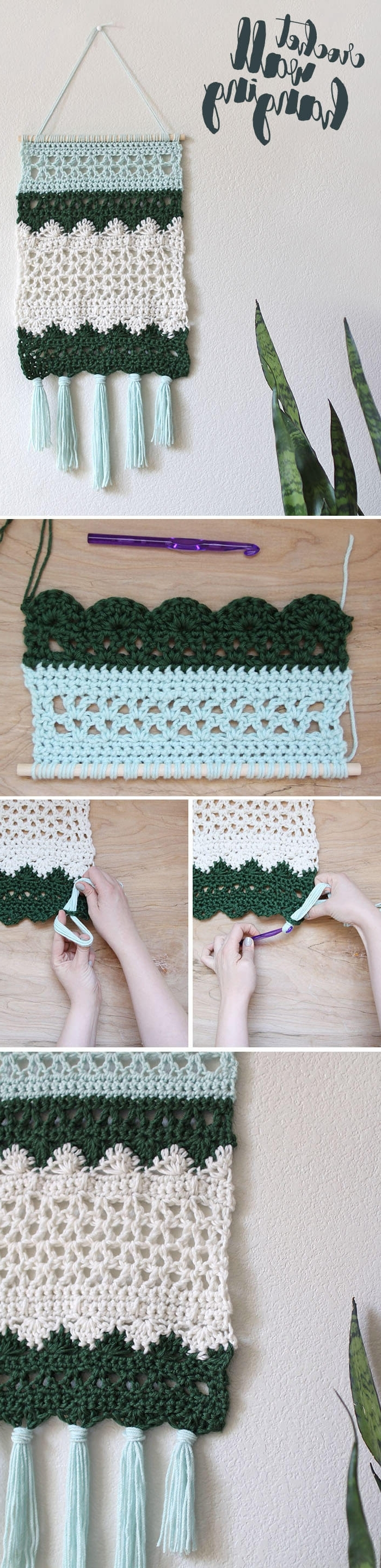 Crochet Wall Hanging Pattern – Persia Lou Throughout Fashionable Crochet Wall Art (View 18 of 20)