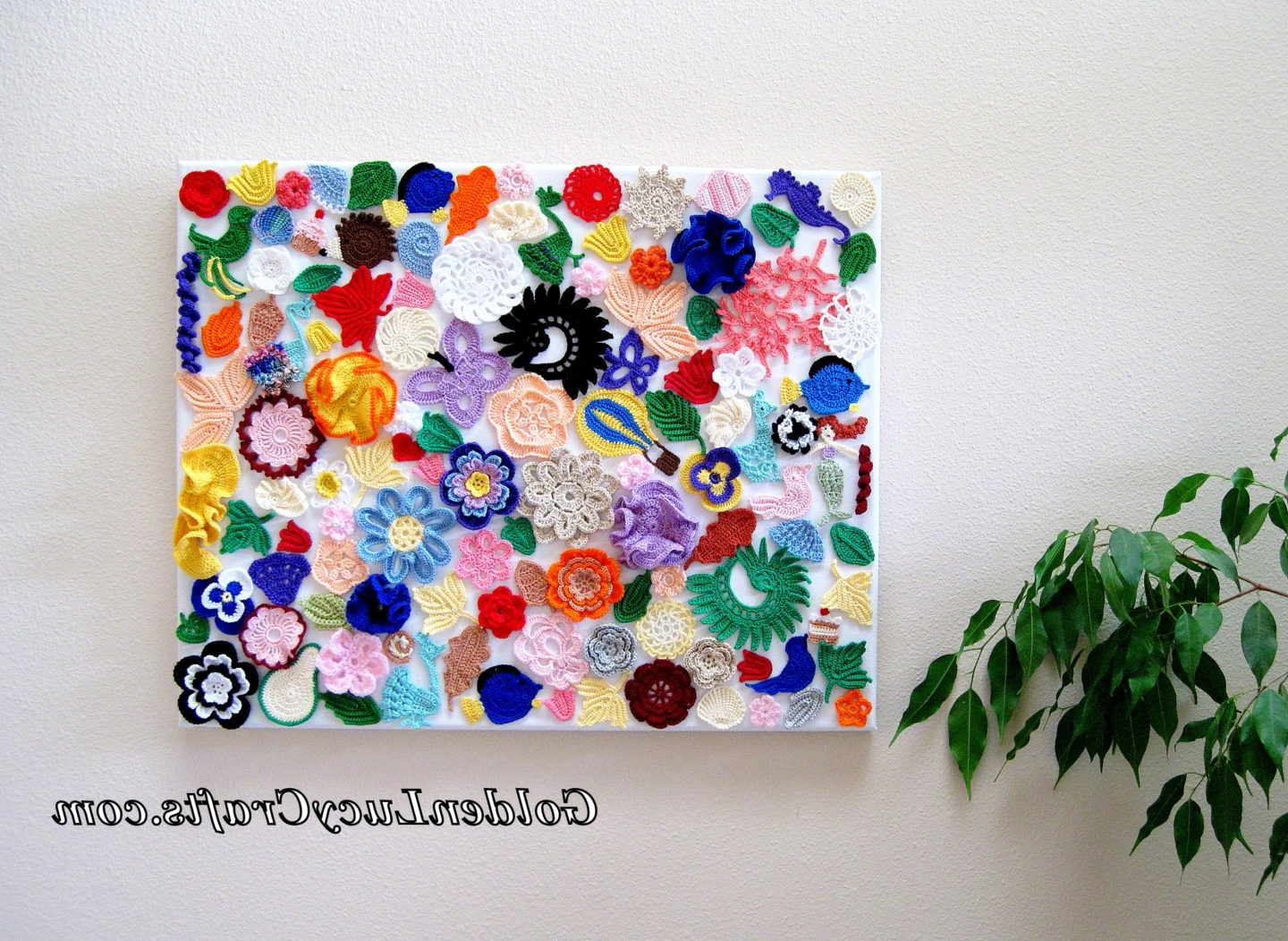 Crochet Wall Hanging, Wall Decoration, Wall Art, Craft Idea For Well Known Crochet Wall Art (Gallery 1 of 20)