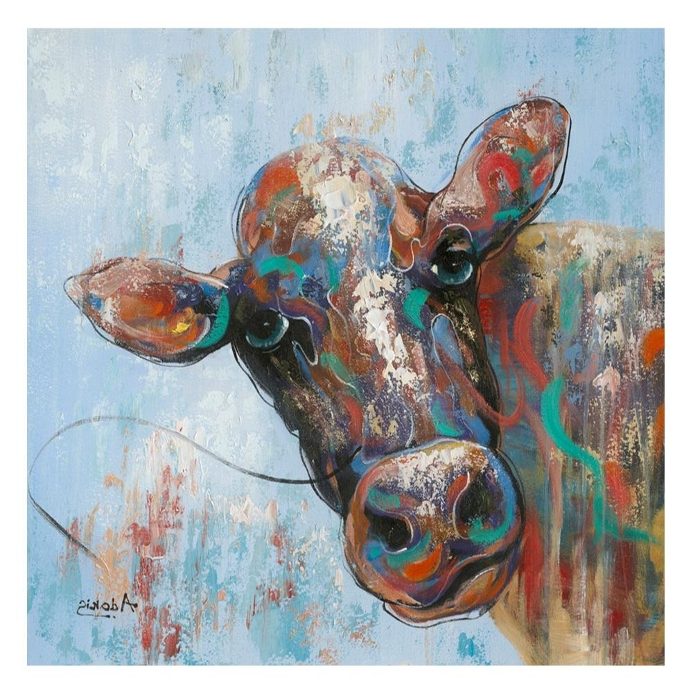 Curious Cow Wall Decor – Boulevard Urban Living Throughout Preferred Cow Canvas Wall Art (View 11 of 20)