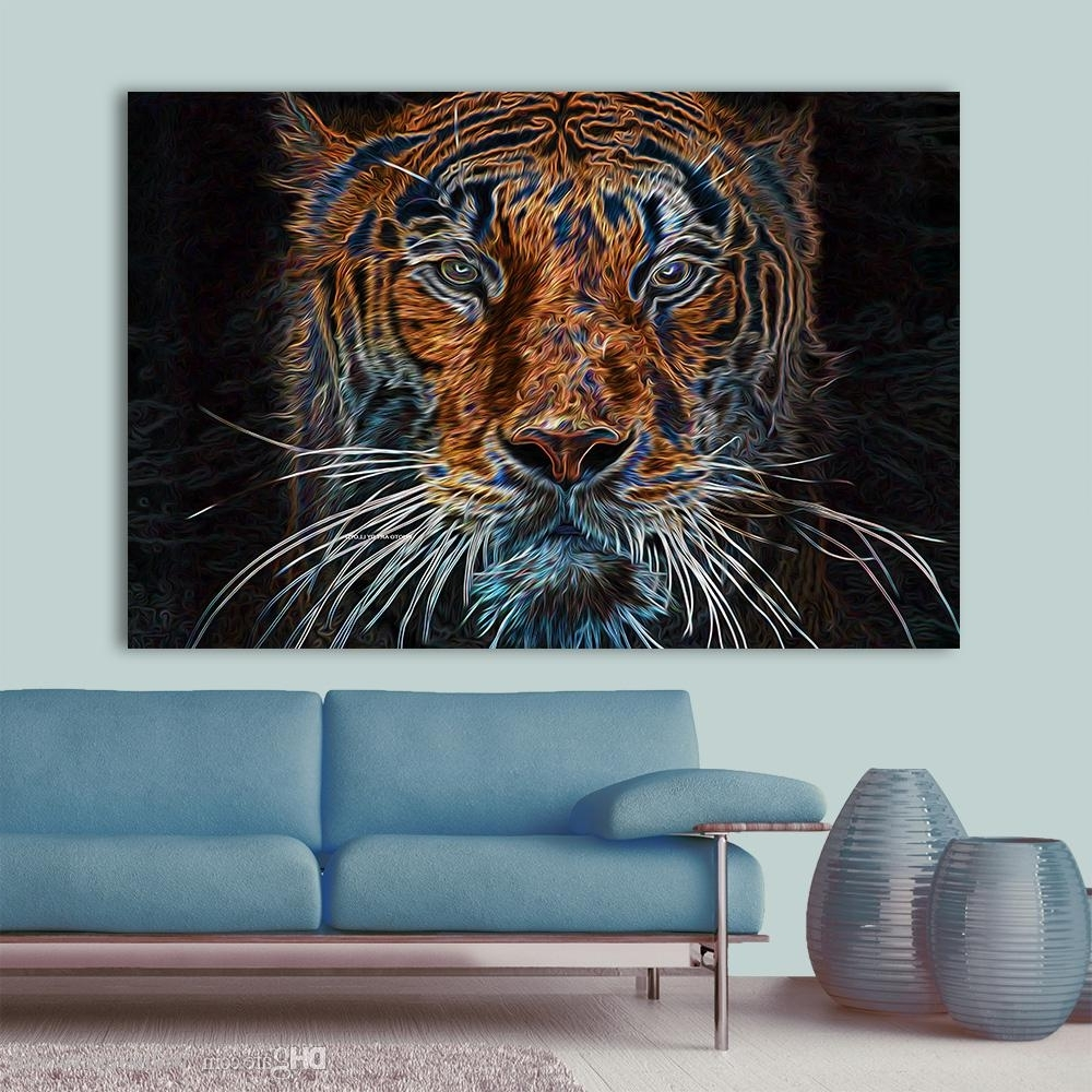 Current 2018 Wall Art Abstract Canvas Painting Colorful Tiger Wall Pictures Intended For Colorful Wall Art (Gallery 18 of 20)