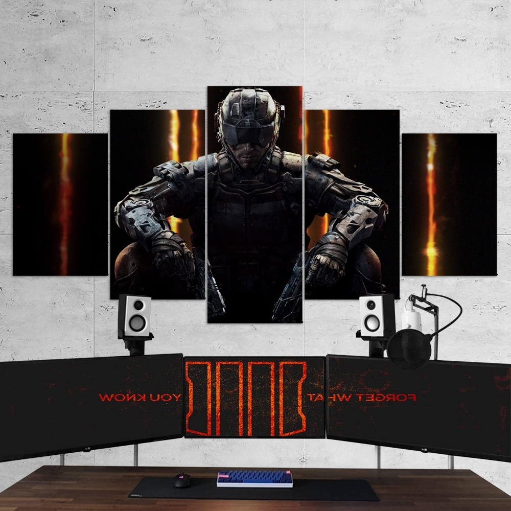 Current 3 Piece Canvas Wall Art Intended For Call Of Duty Black Ops 3 – 5 Piece Canvas Wall Art Gaming Canvas (Gallery 20 of 20)