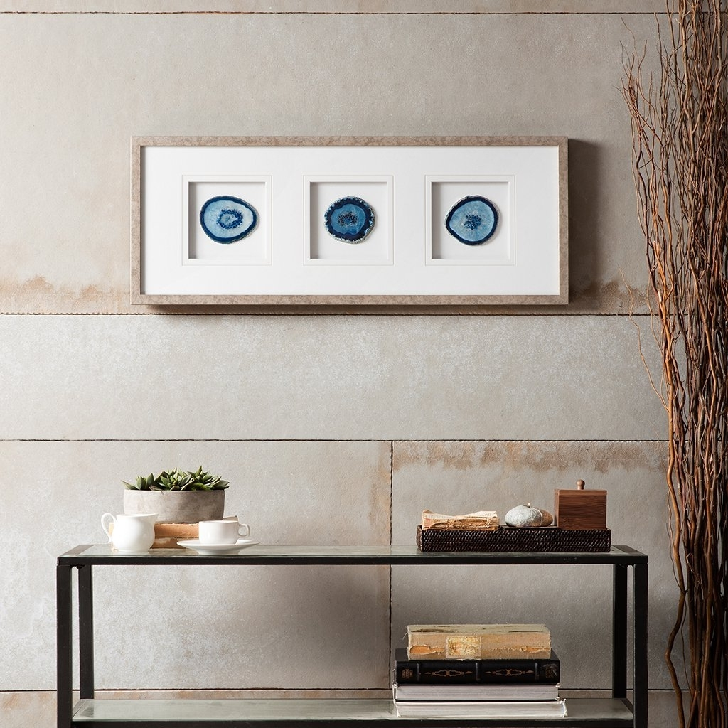 Current Agate Wall Art Intended For Blue Agate Wall Art : Andrews Living Arts – How To Arrange Agate (View 8 of 20)